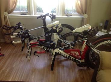 """Our bikes were ready for """"Le Tour de Corn."""""""