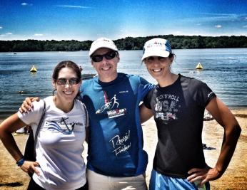 The day before the race , with my amazing friends Sandra and Alberto.