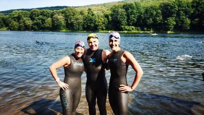 Pre-race swim practice!