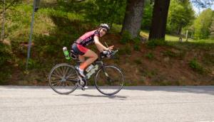 Biking on the IMLP course